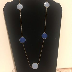 46in. Blue Costume jewelry necklace